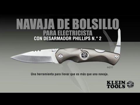 Navaja de bolsillo para electricista con desarmador Phillips
