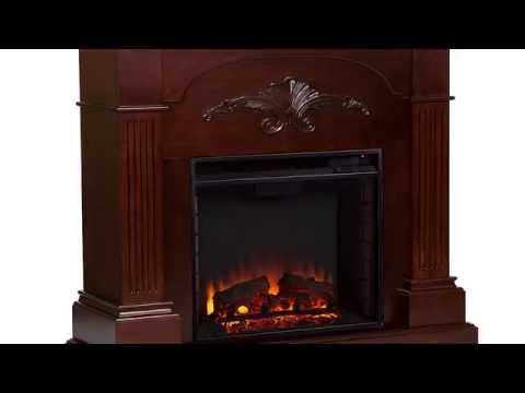 Video for Sicilian Harvest Mahogany Electric Fireplace