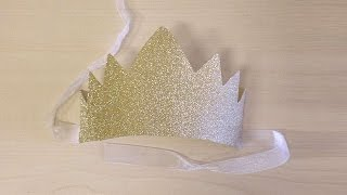 How To Make A New Year Eves Glitter Crown - DIY Crafts Tutorial - Guidecentral