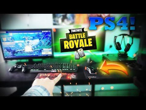 Jugando Fortnite EN PS4 con TECLADO Y RATÓN! Es posible?