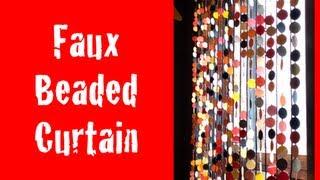 DIY: Faux Beaded Curtains ♡ Theeasydiy #HalloweenHorror