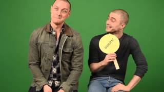 James McAvoy And Daniel Radcliffe Play Never Have I Ever