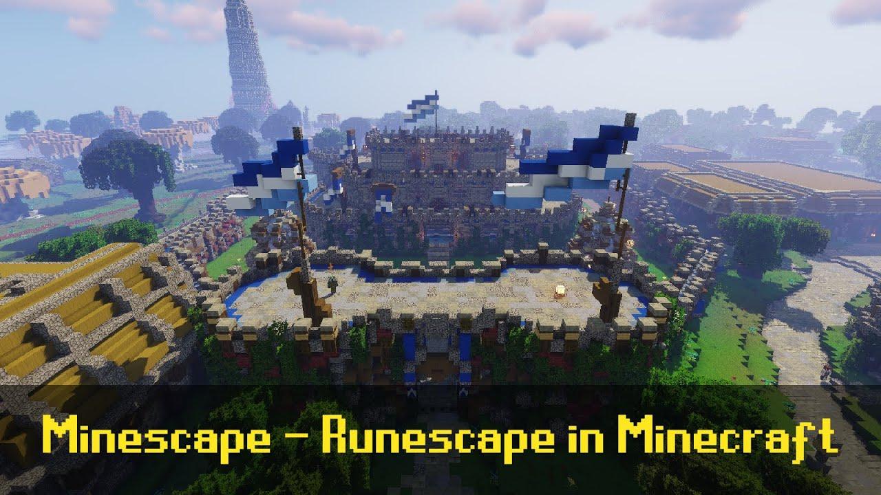 Minescape e' una ricreazione di Runescape in Minecraft