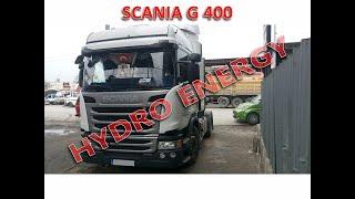 Scania G 400 çekici Hidrojen yakıt tasarruf cihazı montajı.
