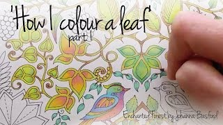 How I Colour A Leaf Part 1 Blending Colours Enchanted Forest