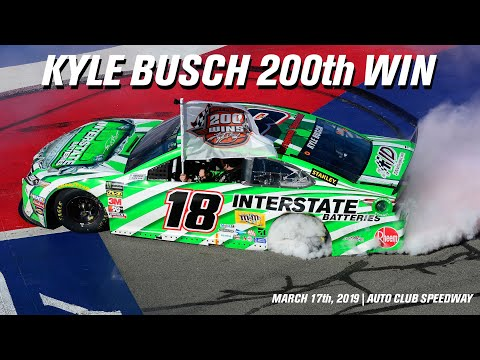 Kyle Busch Wins The Auto Club 400 | 200th NASCAR Win