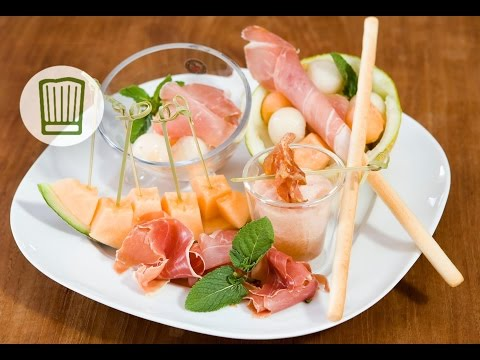 Melone und Schinken in Variationen #chefkoch