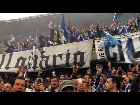 """""""la salida de millos en la final 2012"""" Barra: Blue Rain • Club: Millonarios"""