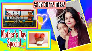 3 DIY GIFT IDEAS FOR MOTHER'S DAY   RAINBOW EARRINGS STAND / TULIP BOUQUET / MINI WALL HANGING  