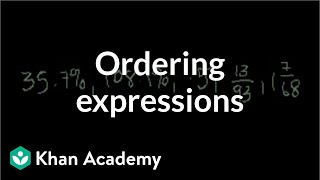 Ordering numeric expressions