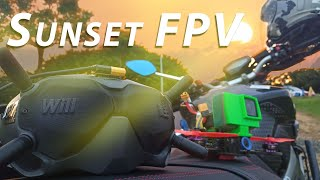 FPV during Sunset / DJI FPV with Insta360 ONE R 4K CPL filter / 夕陽 穿越機
