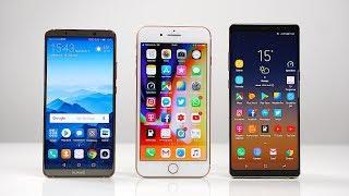 Huawei Mate 10 Pro vs. Apple iPhone 8 Plus vs. Samsung Galaxy Note 8: Benchmark | SwagTab