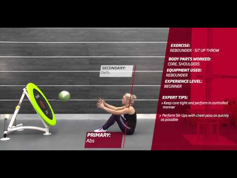 Video Fitness First Freestyle exercise - Rebounder Sit Up Throw - Medicine Ball