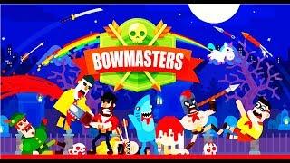 Bowmasters   Безумная Мультяшная Игра про ДУЭЛЬ ГЕРОЕВ  Игровой мультик для детей #Мобильные игры