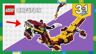 Secret LEGO Build Instructions! The Snake from the LEGO Creator 3in1 Mythical Creatures Set 31073