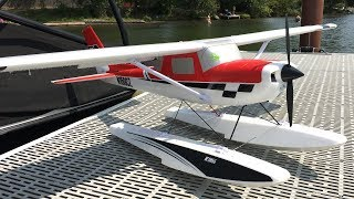 E-flite Carbon-Z Cessna 150 Water Maiden With Bill On Lake Whatcom
