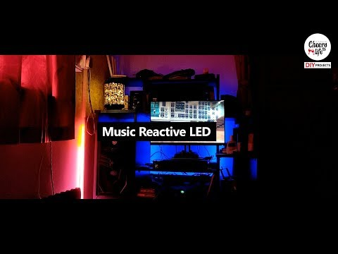 Sound reactive LED strip 2812 music visualization + Arduino