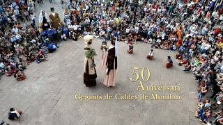preview picture of video 'Festa Major de Caldes de Montbui 2014 Trobada Gegants'
