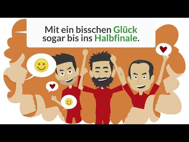 Deutsch lernen   Simon und Lara schauen sich ein Fussballspiel an.   Grammatik Konjunktiv Perfekt