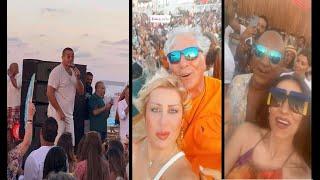 عمرو دياب يغني أحلى ونص لأول مرة ويشعل حفله بالساحل اليوم في حضور النجوم تحميل MP3