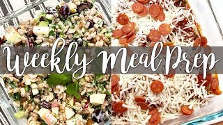 Weekend Meal Prep! Pizza Stuffed Shells, Waldorf Farro Salad, Broccoli Cheese Soup, Maid Rites