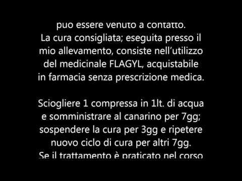 Medicine per trattamento di vermi di piccioni