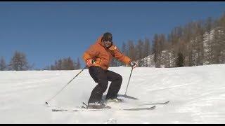 Смотреть онлайн Остановка и повороты на горных лыжах