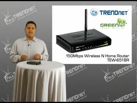 Enrutador inalámbrico N Home para red doméstica a 150Mbps TEW-651BR Tele TRENDnet (802.11n)