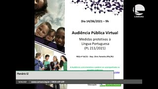 PL 211/2021 - Medidas protetivas à Língua Portuguesa - 14/06/2021 09:00