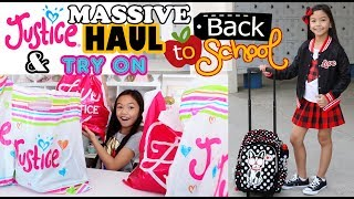 MASSIVE JUSTICE BACK TO SCHOOL HAUL & TRY ON!!!