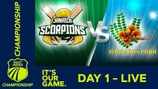 Jamaica v Barbados   West Indies Championship - Day 1   Thursday 7th March 2019