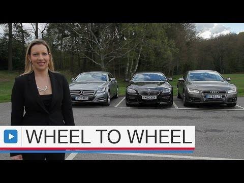 Audi A7 Sportback vs BMW 6 Series Gran Coupe vs Mercedes CLS video 4 of 4