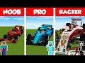 Minecraft Noob Vs Pro Vs Hacker: F1 Car House Build Cha