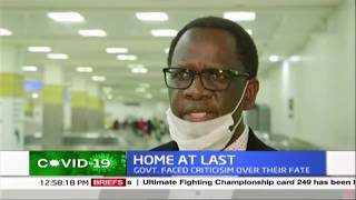 HOME AT LAST: Kenyans who were stranded in China arrived early morning in a KQ flight