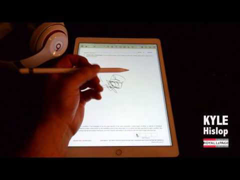 Signing contracts using the iPad Pro and Apple Pencil