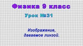 Физика 9 класс Урок 31 - Изображение, даваемое линзой.