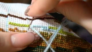 Процесс вышивки на руках\\ Закрепление нити\\ Мой опыт