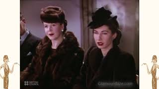 1940s Fashion Show In Color - WW2 Women 1941