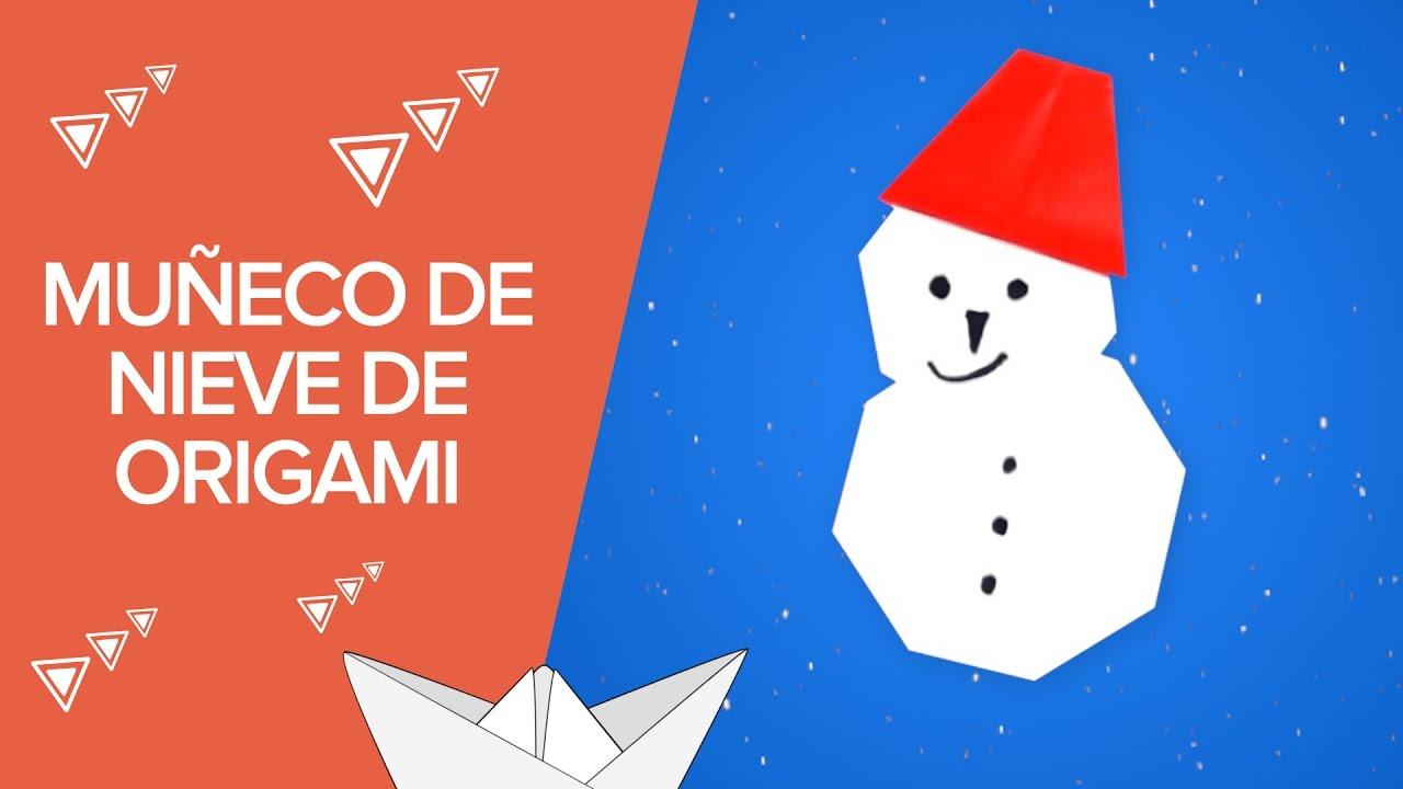 Muñeco de nieve de origami | Manualidades de Navidad