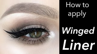 Winged Eyeliner Tutorial - Liquid Liner | Alexandra Anele