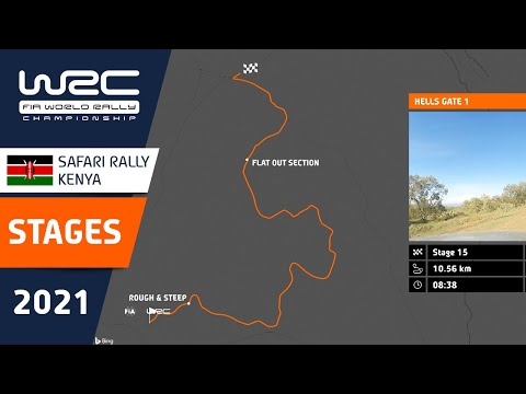 WRC 2021 WRC第6戦ラリー・ケニア 全SSのコース紹介動画