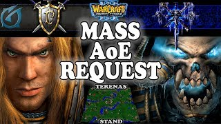 Grubby   Warcraft 3 TFT   1.29   HU v UD on Terenas Stand - Mass AoE Request