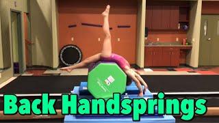 how to do a back handspring stepout - मुफ्त