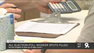 All Pima County election poll worker spots filled, record number of sign-ups in county