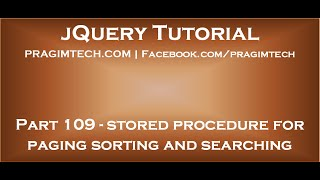 jQuery datatables stored procedure for paging sorting and searching