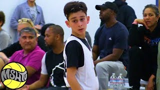 6th Grader Dominic Zaia GETS BUCKETS 2018 EBC Oakland Camp