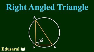 Understanding of Right Angled Triangle in Hindi | Geometry  | All Competitive Exams | Edusaral