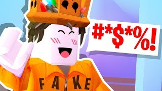 someone SWORE at Roblox.. PRETENDING TO BE ME!