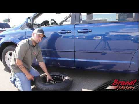 Changing the Tire on Dodge Grand Caravan, Chrysler Town and Country - Brandl Media Minute - 09-08-11