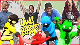INTENSE 2V2 BATTLE! WHAT A COMEBACK! - Gang Beasts Gameplay